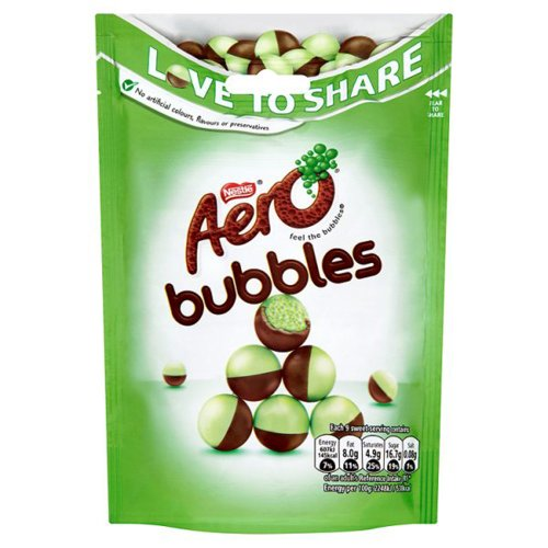 Aero Bubbles Peppermint (113G Pouch) (Pack Of 3)