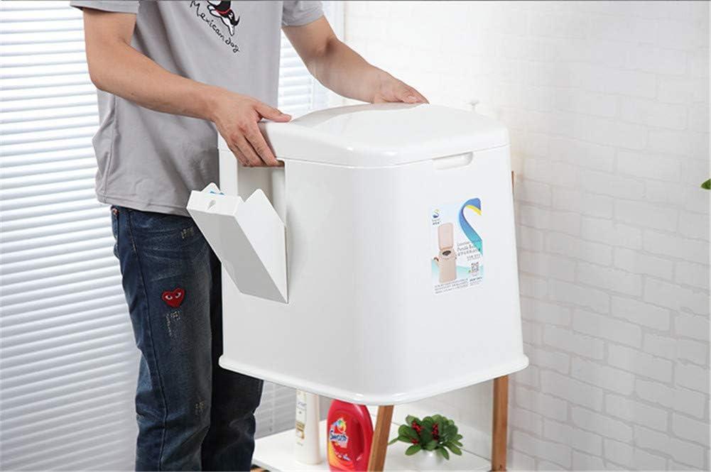 Blanc Cikonielf Toilette Portable ext/érieure pour Enfants Femmes Enceintes /âg/ées avec si/ège et Couvercle,Toilette Mobile pour Camping avec Porte-Papier hygi/énique,Hauteur dassise Confortable