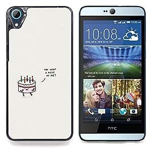 """For HTC Desire 826 Case , Torta de cumpleaños Amor gris minimalista lindo"""" - Diseño Patrón Teléfono Caso Cubierta Case Bumper Duro Protección Case Cover Funda"""