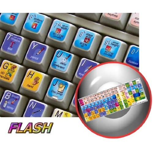 NEW ADOBE FLASH KEYBOARD STICKER (GRAPHIC DESIGN EDITING) FOR DESKTOP, LAPTOP AND NOTEBOOK 4KEYBOARD