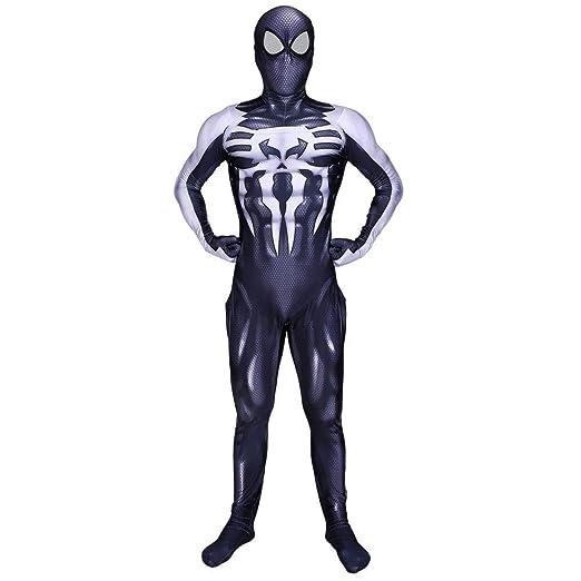 PIAOL Veneno Negro Película Traje De Spiderman Medias Siamesas De ...