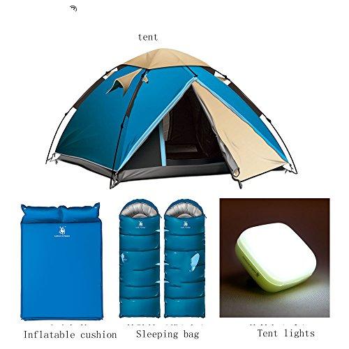 賛美歌スクラップブックただやるQFFL zhangpeng テント油圧自動二重テントアウトドア3-4人テントキャンプレインコートキャンプテント3色オプション トンネルテント (色 : C)