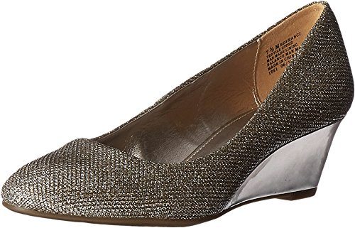 Bandolino Women's Franci Wedge Pump, Gold Glamour, 8 M US