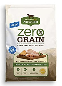Rachael Ray Nutrish Zero Grain Natural Dry Dog Food, Chicken & Sweet Potato Grain Free Recipe, 14lbs