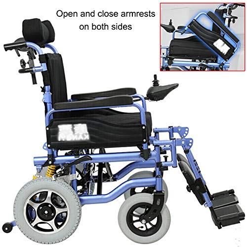 Amazon.com: ACEDA Silla de ruedas eléctrica de alta ...