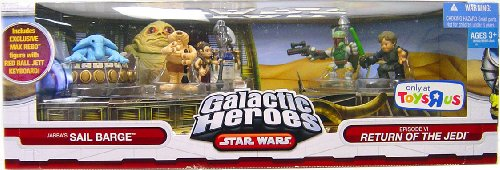 (Star Wars Galactic Heroes Exclusive Deluxe Cinema Scene Mini Figure Multi Pack Jabbas Sail Barge)