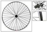 700c x 35 wheel - Weinmann 519 Rear Wheel 700c x 35, QR 8-Speed Cassette, 36H, Black
