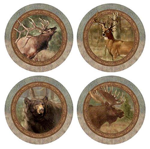 Thirstystone Stoneware Coaster Set, Wildlife ()