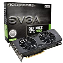 EVGA GeForce GTX 980 4GB GAMING ACX 2.0, 26% Cooler and 36% Quieter Cooling Graphics Card 04G-P4-2981-KR