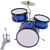 Juego de 3 tambores junior con taburete y palos, pedal de tambor