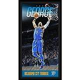 Steiner Sports NBA Oklahoma City Thunder Paul George Player Profile Wall Art 9.5x19 Framed Photo