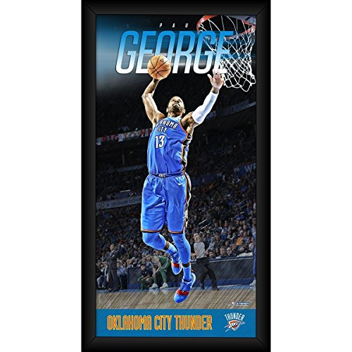 Steiner Sports NBA Oklahoma City Thunder Paul George Player Profile Wall Art 9.5x19 Framed Photo by Steiner Sports