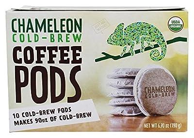 Chameleon Cold-Brew - Organic Cold Brew Coffee Pods - 2 pack (20 pods) by The Chameleon Cold Brew