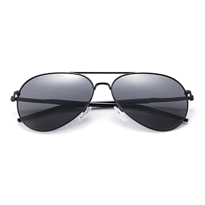 b0f3952f8a MT MIT Aviator Sunglasses for Men Women Polarized Metal Frame UV401  Protection Gray