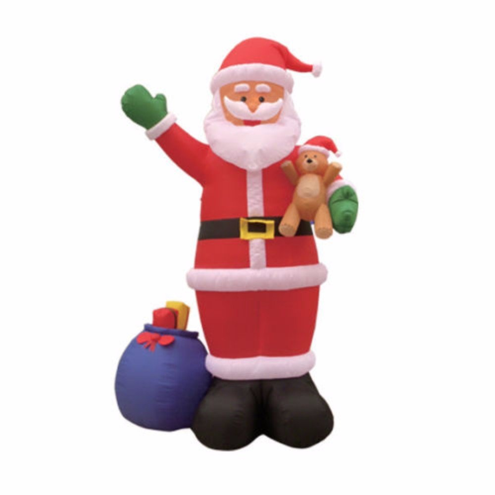 INFLATABLE CHRISTMAS INDOOR OUTDOOR YARD DECORATIONS - MULTIPLE THEMES (SANTA AND GIFT BAG)
