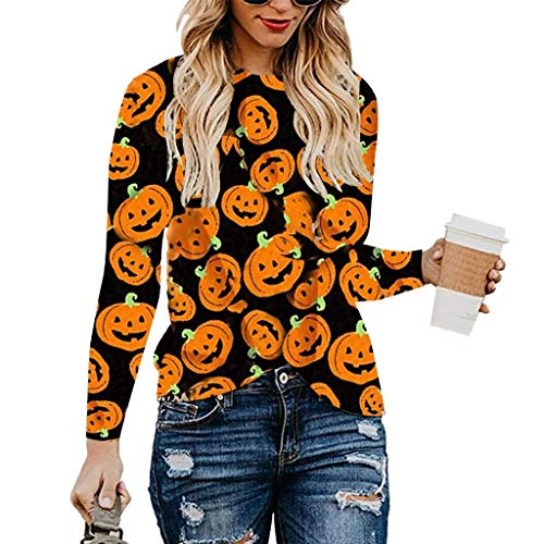 Top 50 Classic Halloween Movies - Womens Casual Long Sleeve Round Neck