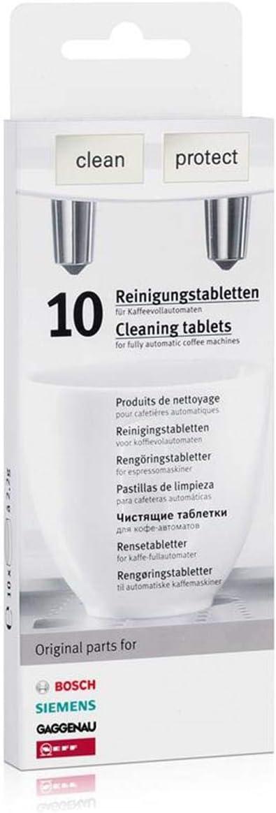 1 x 10 Bosch Siemens pastillas de limpieza (00311769) + 1 x 3 Bosch Siemens – Pastillas descalcificadoras (00311819): Amazon.es: Hogar