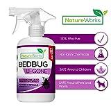 Bedbug-B-Gone- Bed Bug Lice & Mite Killer and Deterrent Spray I EPA & FDA Approved Ingredients I Natural & Non Toxic I Child & Pet Friendly I Fast Acting I Stain & Odor Free- Large 16oz