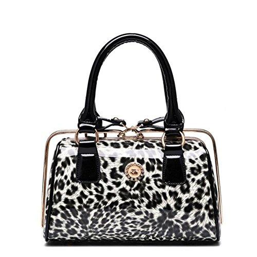 Minkoffo 2016 New Fashion Glossy Leopard Print Pu Leather Handbag(c2)