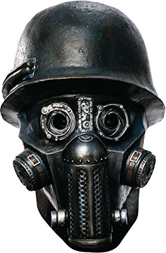 [Rubie's Costume Co Men's Sucker Punch Gas Mask Zombie Deluxe Overhead Mask, Black, One Size] (Halloween Costumes With Gas Mask)