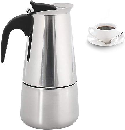 ZhongYe - Cafetera Espresso de inducción para 6 Tazas de café Moca ...