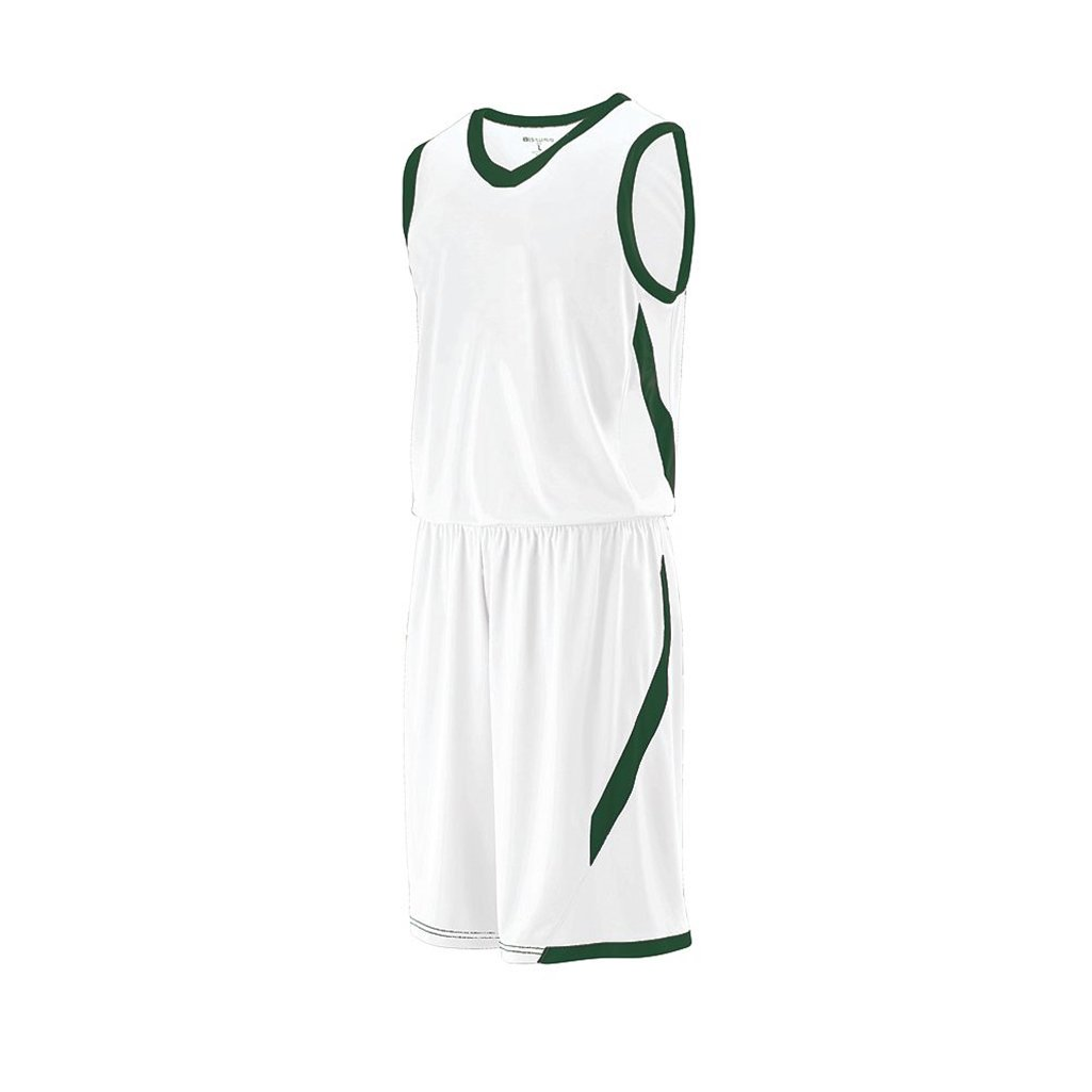 Holloway Youth Lateral Dry Excell Basketball Jersey (Youth X-Large, White/Forest) by Holloway
