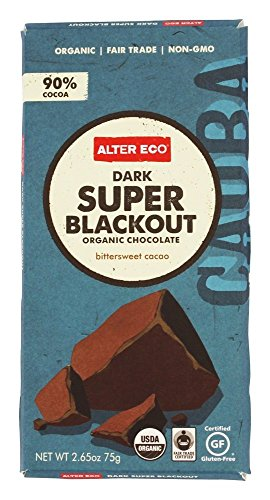 Alter Eco Chocolate Bar Dark Super Blackout Organic, 2.65 oz (Super Chocolate)