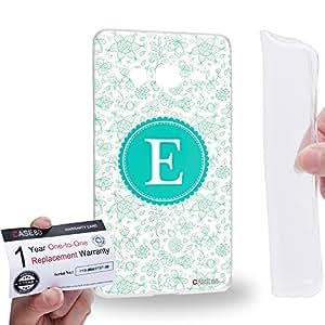Case88 [Samsung Z3 Sm-Z300h] Gel TPU Carcasa/Funda & Tarjeta de garantía - Art Typography Fashion Alphabet E Style Art1248