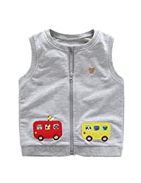 LittleSpring Little Boys' Vest Cartoon