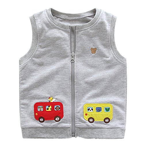 LittleSpring Little Boys Vest Cartoon