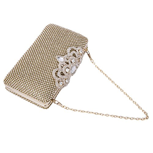 Luxury Gold Handbag Crystal Bag Bag 2017 Clutch Jewelry Evening Rhinestone Fashion Purse 1HFqFx