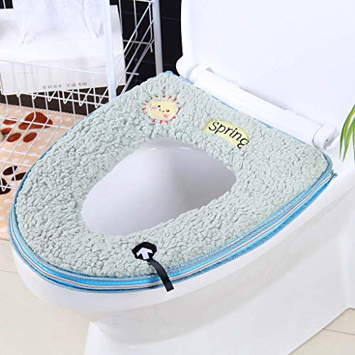 Yuzhijie Toiletzitkussen met dikke toiletbedekking toiletbril rits toilet, 1