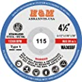 "4-1/2"" x 1/16"" x 7/8"" CUT-OFF WHEELS for Stainless Steel & Metal Cutting Disc ( 25 PACK )"