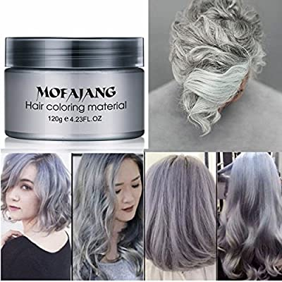 Amazon.com: Temporary Silver Gray Hair Wax Pomade For Men And Women, Luxury  Coloring Mud Grey Hair Dye,Washable Treatment With All Day Hold.