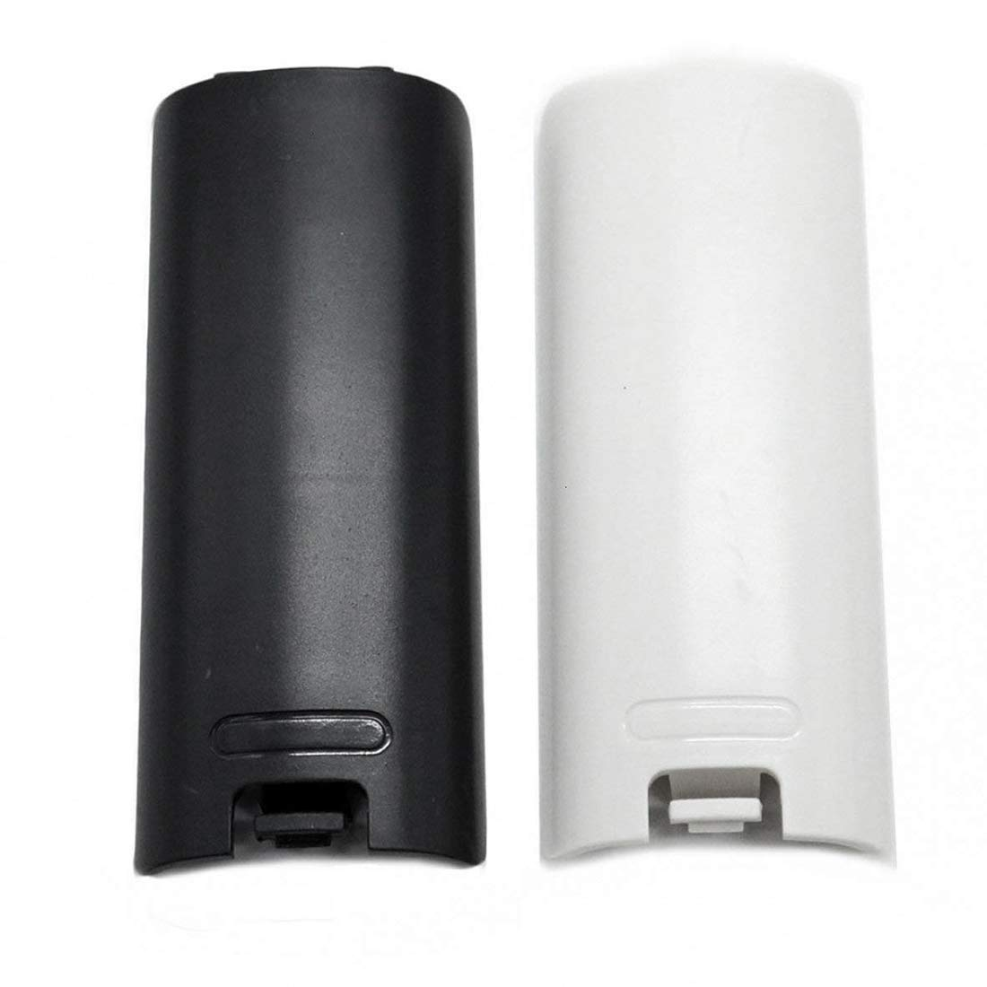 SODIAL 2pcs Black and White Replacement Battery Back Door Cover Shell for Wii Remote Controller