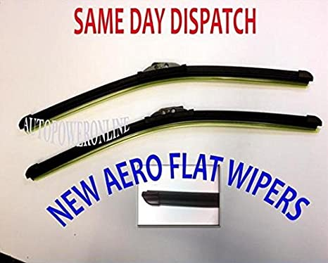 NEW STYLE AERO FLAT FRONT WIPER BLADES FOR FORD MONDEO MK3 2000-2007 20/