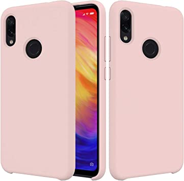 CoverTpu Funda Xiaomi Redmi Note 7 Silicona, Rosa Funda Líquido de ...