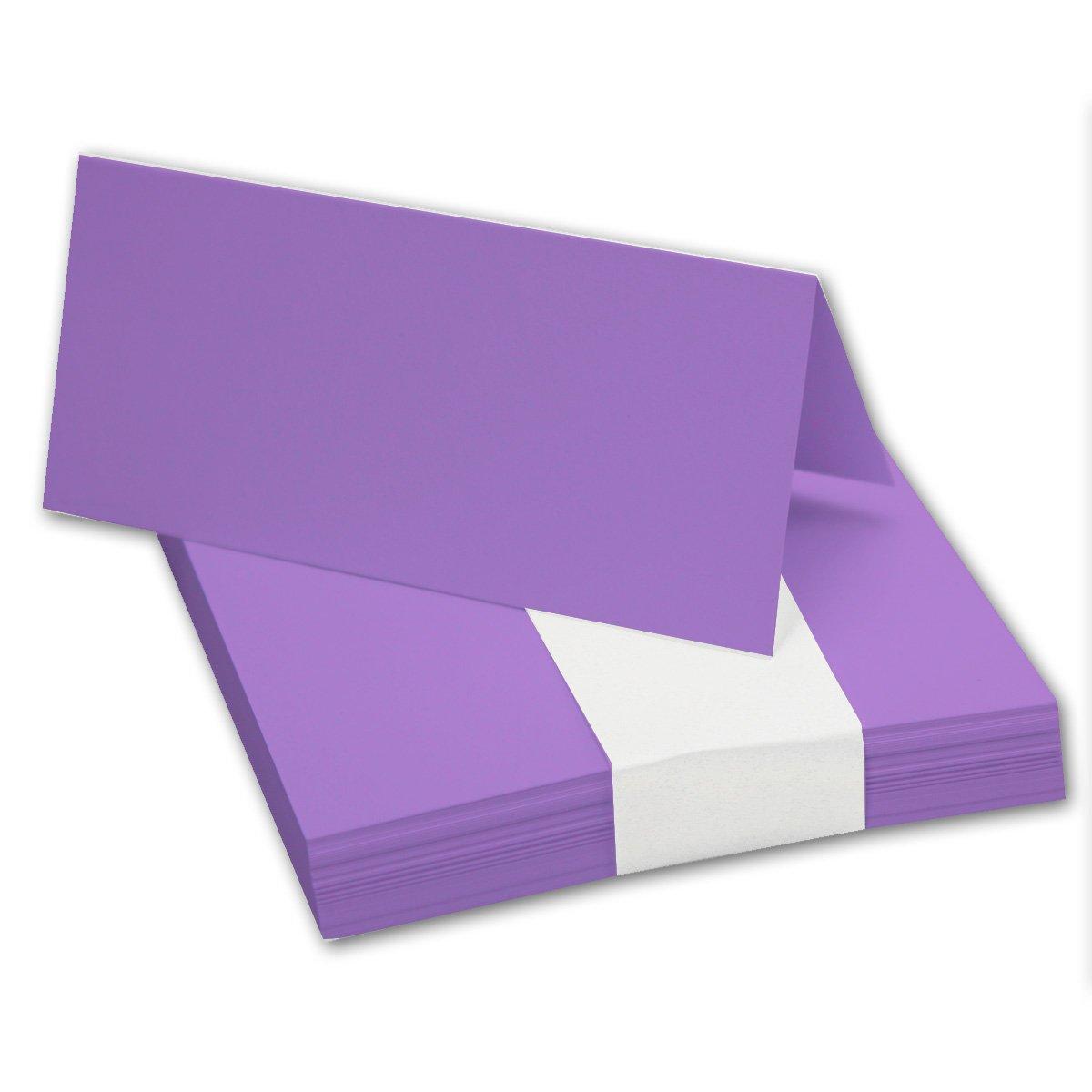 200x Tischkarten in Hochweiß I Größe  100 x 90 mm (Gefaltet 100 x 45 mm) I 240 g m² - Sehr Schwere und Stabile Qualität I aus der Serie FarbenFroh von NEUSER  B073D42YHT | Online