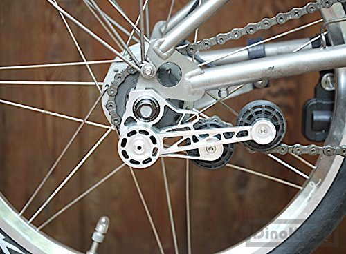 F+ Silver Aluminium Alloy Lightweight Tensioner for Brompton Bicycle ver 4.0 - Dino Kiddo