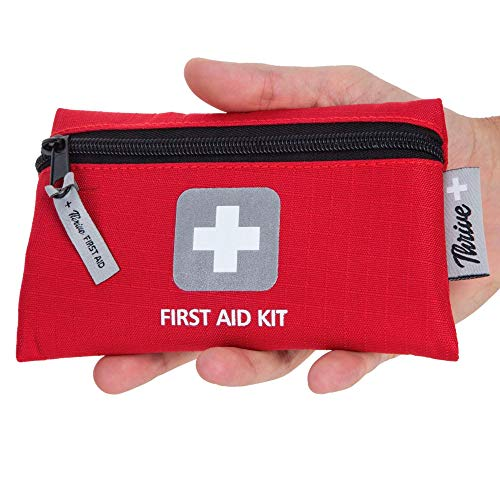 First Aid Kit - 66 Pieces - Small and Light Bag - Packed with Medical Supplies for Emergency, Survival, Hiking, Backpacking, Camping, Travel, Car & Cycling. Be Prepared at Home & Work