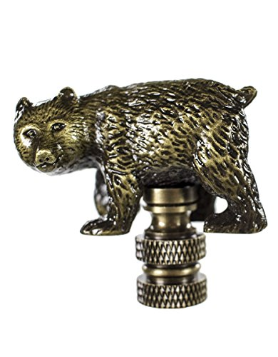Walking Bear Finial Antique Metal