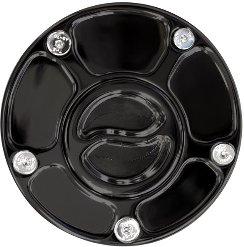 Yana Shiki A4284AB Black 3-Bolt Race Style Gas Cap for Yamaha Motorcycles R6 Fuel Injection