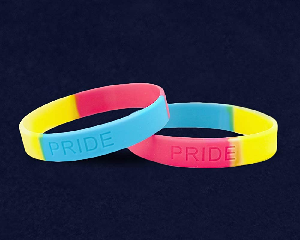 Fundraising For A Cause LGBTQ Pansexual Pride Silicone Bracelet Adult