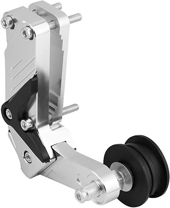 Qiilu Ajustador de motocicleta Rodillo tensor de cadena CNC Herramienta universal de aleaci/ón de aluminio plata