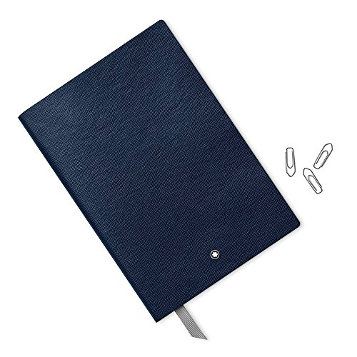 Montblanc Notebook Indigo Lined #146 Fine Stationery 113593 - Elegant Journal with Leather Binding and Ruled Pages - 1 x (5.9 x 8.2 in.) by MONTBLANC (Image #2)