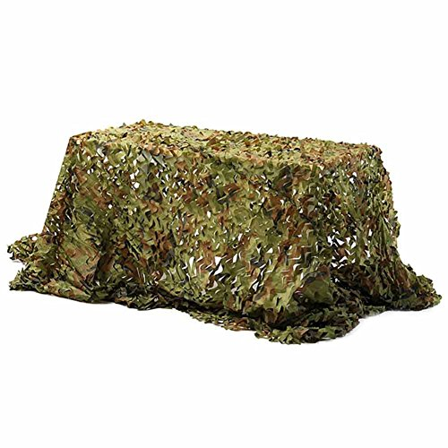 Enjoydeal Netting Cover 2X2M Hunting Camping Military Camouflage Net Woodland Dark Jungle