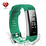 Damusy Fitness Tracker, Bluetooth Watch Activity Tracker Smart Band with Heart Rate Monitor,Waterproof Bracelet Pedometer Wristband with Calorie Counter, Call/SMS Remind for Android and iOS (Green) Review
