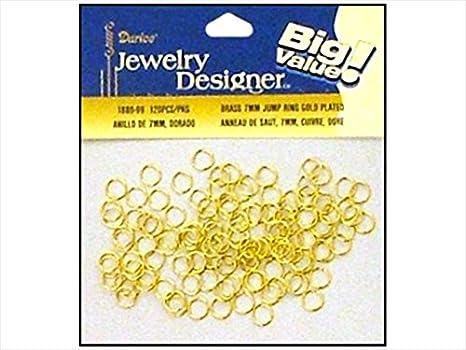 Darice & ~ Catan Floral DAR1880.99 Jump Ring 7Mm. Plato de latón dorado, 120 piezas, paquete de 3: Amazon.es: Juguetes y juegos