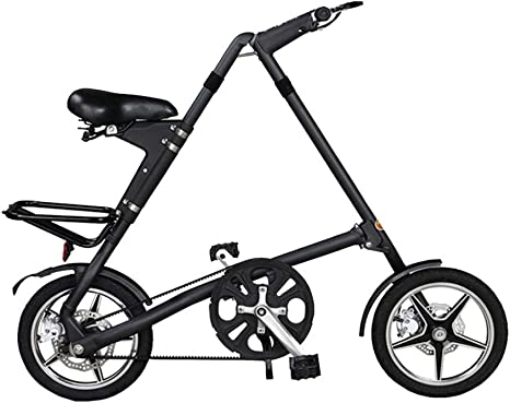 LYXQQ Bicicleta Urbana Plegable, Bicicleta Plegable Doble Disco Bicicleta Plegable Unisex, Bicicleta Plegable Aleación Aluminio 16 Pulgadas(Tamaño Plegable 108 * 37.5 Cm),C: Amazon.es: Deportes y aire libre