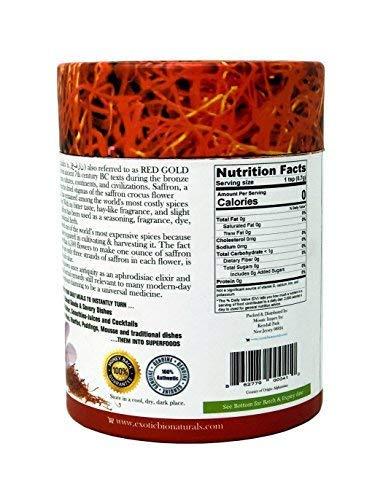 Genuine Grade A+, Premium Quality All Red, Organically Grown SUPER NEGIN Saffron (0.36 Oz / 10 gms)